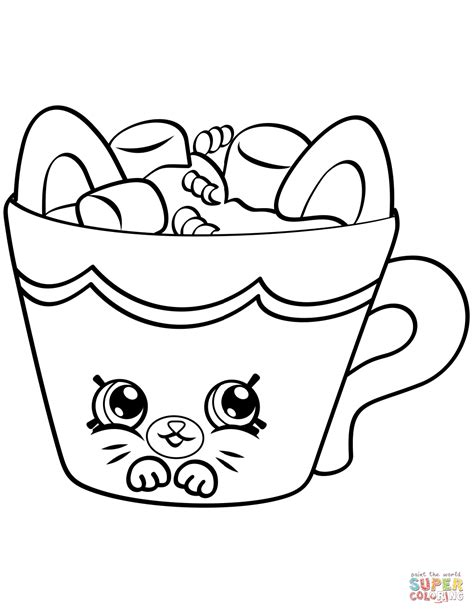 shopkins coloring pages of petkins hot choc petkins shopkin coloring page free printable