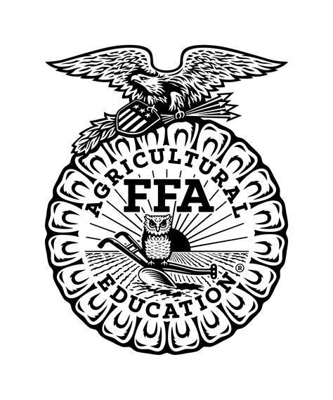 emblem black and white black and white ffa emblem sketch coloring page