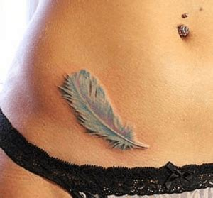 feather tattoo stomach the most stunning stomach tattoos for girls