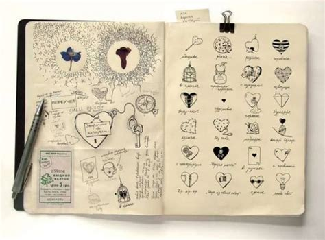 Drawing Journal by Rusakova Diary Doodles Drawings