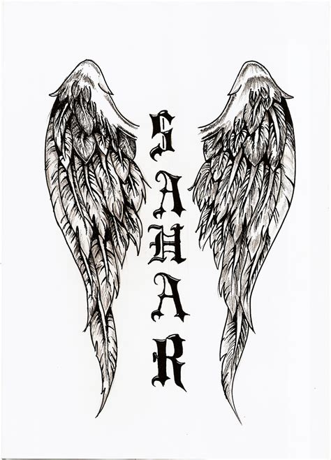 dark angel wings tattoo designs wings pictures to pin on tattooskid