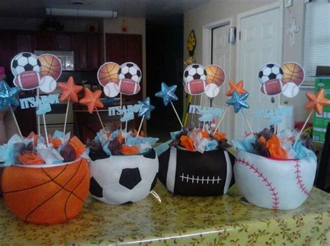 Baby Shower Sports Centerpieces by 25 Best Ideas About Sports Centerpieces On