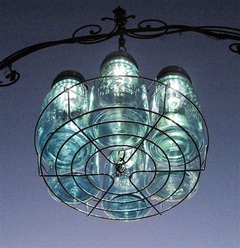 canning jar lights chandelier 6 mason jar solar lights chandelier by treasureagain