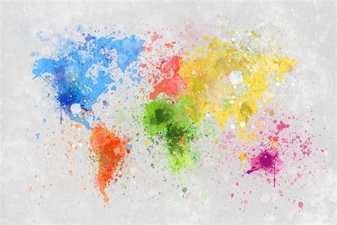 colorful world map colorful world wall mural photo wallpaper photowall