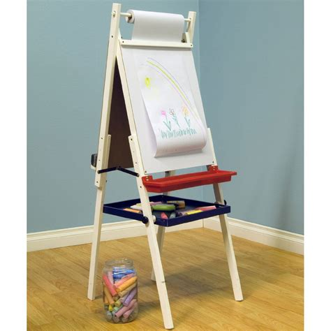 childrens easel childrens easel and chalkboard in craft storage