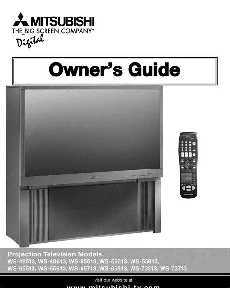 tv l for mitsubishi free pdf for mitsubishi ws 65813 tv manual