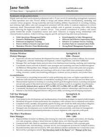 retail store manager resume exles sles of resumes