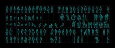 free online 2d cad human figures 2d autocad book batiment architecture