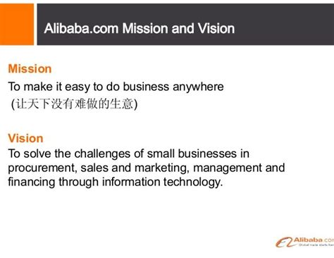 Alibaba Mission Statement | alibaba mission and vision mission statement exles