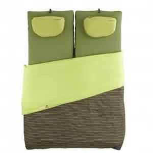 sac de couchage quechua sleepin bed c confort 2p vert