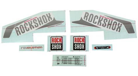 Rock Shox Pike Aufkleber Set by Rock Shox Federgabel Aufkleber Decals G 252 Nstig Kaufen