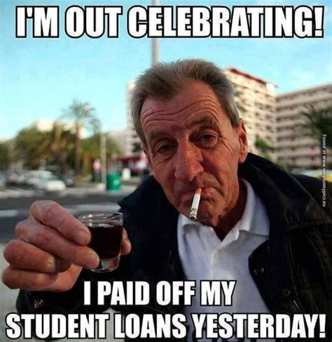 paid off student loans meme