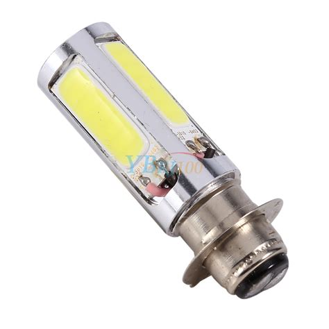 Lu Led Cob Motor 2x white h6m px15d 5 cob smd led motorcycle atv motor bike