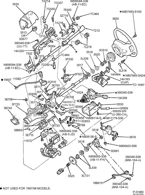 ford f250 parts diagram exploded view for the 1999 ford f250 tilt steering
