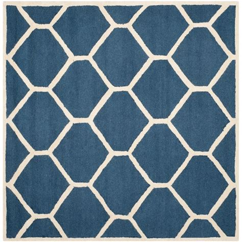 8 Foot Square Area Rug Safavieh Cambridge Navy Blue Ivory 8 Ft X 8 Ft Square