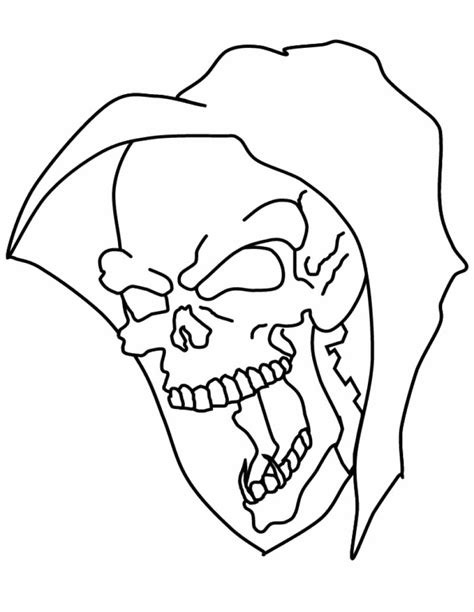 evil skulls coloring pages