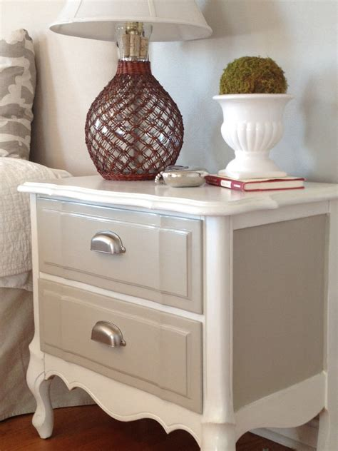 Diy Painted Desk Two It Yourself Refinished Nightstand In Diy Chalk Paint Before And After Photos
