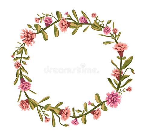 imagenes de flores ilustradas dise 241 o floral ramo del c 237 rculo hecho de flores