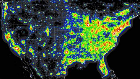 sagan sense light pollution map of the united states