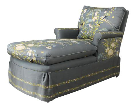 chaise lounge upholstered vintage 1940 s upholstered chaise lounge chairish