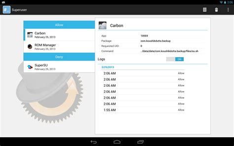 superuser chainsdd apk koush releases free open source superuser app with support for multi user tablet ui x86 arm