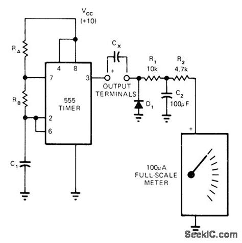 how to make capacitor in ic linear scale measuring and test circuit circuit diagram seekic