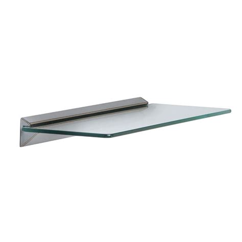 decorative shelves home depot knape vogt 18 in w x 6 in d wall mounted chrome grey