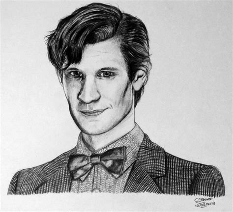 How To Draw Matt Smith Doctor Who   doctor who matt smith drawing by lethalchris on deviantart