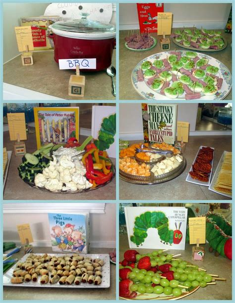 Book Themed Baby Shower Food by 1000 Images About Children S Books With Food Ideas On