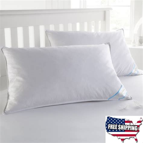 pillows for king size bed 2 king size goose down feather bed pillows set high thread count quality white ebay
