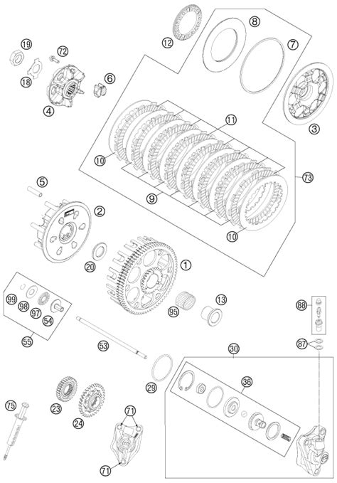 Ktm Fiche Finder Ktm Fiche Finder Clutch Spare Parts For The Ktm 450 Sx F Eu