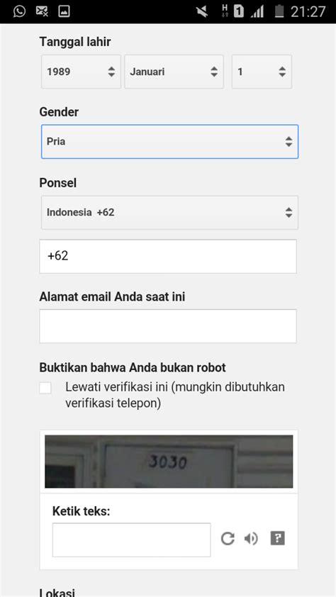 cara membuat email google lewat operamini cara membuat email gmail lewat hp android mari berbagi