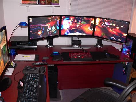 how to make a gaming setup three monitor eyefinity setup that shows off in game graphics