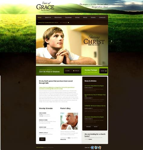 How To Build A Church Website From A Template Christian Church Website Templates Free