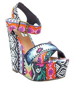 tribal pattern wedges budget fashion fix tribal wedges suburban style challenge