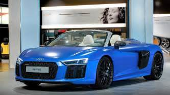 matte arablau audi r8 v10 spyder by audi exclusive gtspirit