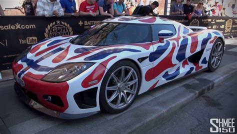koenigsegg wrapped 2013 gumball 3000 koenigsegg gets norway flag wrap