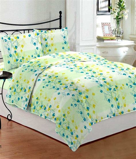 bombay dyeing bed sheets bombay dyeing florentine green floral cotton double bed