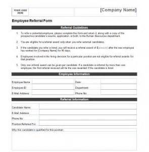 employee referral form template formats examples in