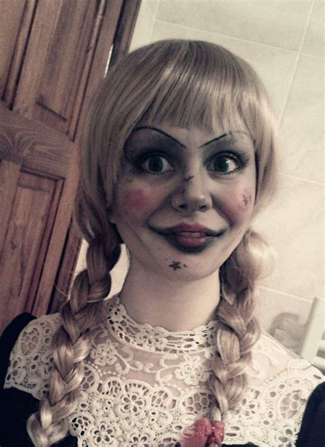 annabelle doll halloween makeup annabelle from the conjuring annabelle disguise the