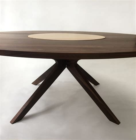 contemporary modern solid walnut  dining table