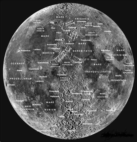 moon map the moon facts about the moon for