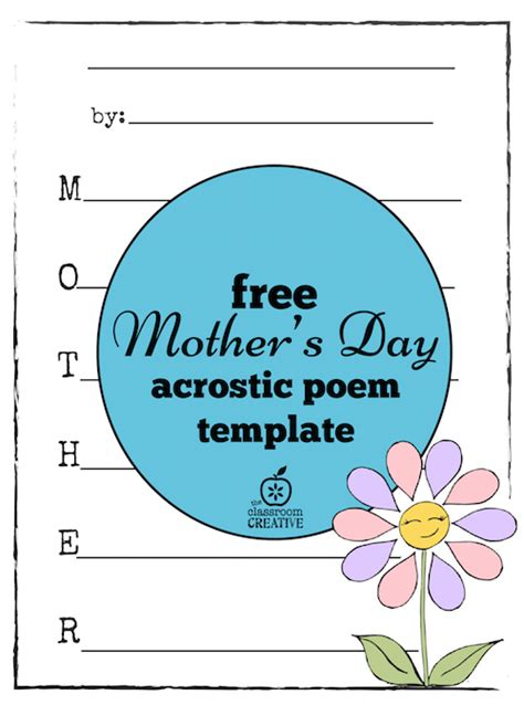 day acrostic poem free mother s day acrostic poem template