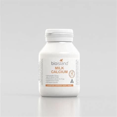 Bio Island Milk Calcium 90cap sữa vi 234 n milk calcium bio island