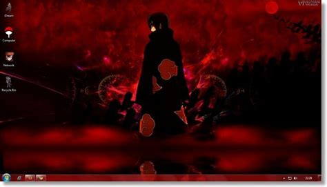 wallpaper bergerak akatsuki windows 7 anime themes naruto akatsuki theme