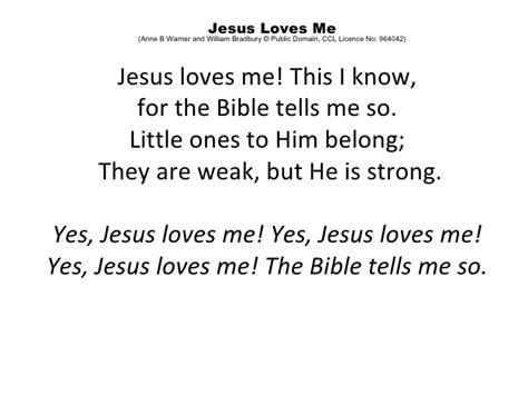 printable lyrics jesus loves me pics for gt jesus loves me this i know lyrics