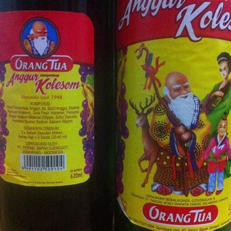 Anggur Cap Orang Tua primbon donit minuman berakohol asli indonesia yang jadi