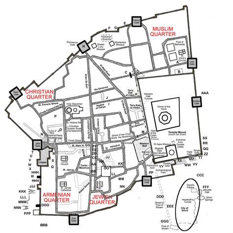 map of city of jerusalem city of david