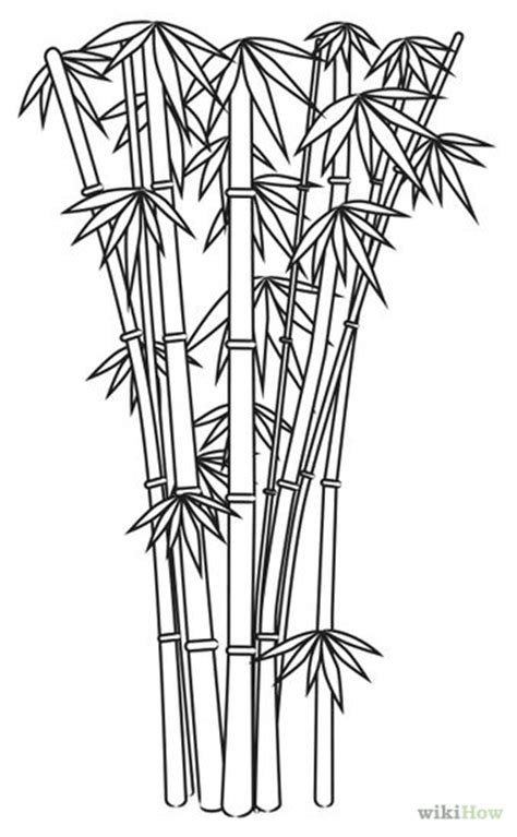Drawing Of A Bamboo Tree by How To Draw Bamboo 8 Steps With Pictures Wikihow