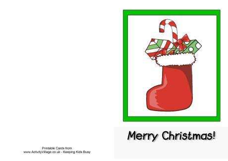 printable christmas cards uk merry christmas stocking card